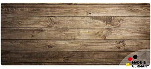 matches21 Küchenläufer Teppichläufer Teppich Läufer Dunkles Holz Holzoptik Holzbrett 50x120x0,4 cm maschinenwaschbar - Läufer Teppich Holz