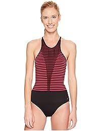 4cf64bf8e91 Nike Women's Laser High Neck Tank Swimsuit Sport Fuchsia