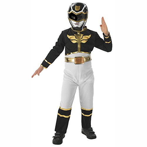 Black Power Ranger Megaforce Kinder Gr. S - M Karneval Kinderkostüm Superheld Held ()