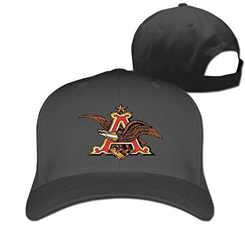 huseki-anheuser-busch-logo-hat-plain-baseball-cap-black