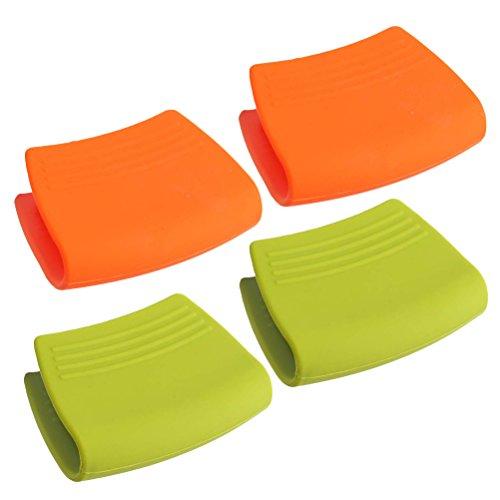 Scopri offerta per BESTonZON, 2 Paia, Mini Forno Resistente al Calore, Manico in Silicone, presine in Silicone (Colore Casuale)