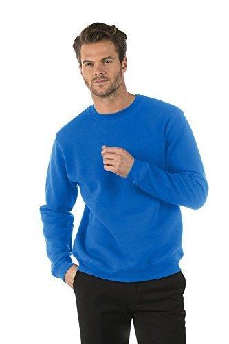 Bruntwood Classico Felpa Girocollo - Classic Crew Neck Sweatshirt - Uomo & Donna - 280GSM - Cotone/Poliestere (Blu Reale, XL)