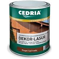 Lasur protector madera exterior al agua Cedria Dekor Lasur 750 ml (Nogal)