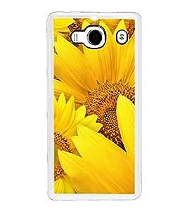 Fuson Designer Phone Back Case Cover Xiaomi Redmi 2 :: Xiaomi Redmi 2S :: Xiaomi Redmi 2 Prime ( Bunch Of Sunflowers )