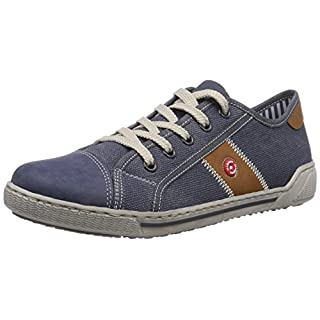Rieker 42412 Women Low-Top, Damen Sneakers, Blau (denim/jeans/nuss/15), 38 EU