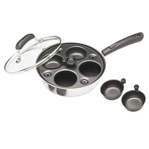 Kitchen Craft Aluminium Coated Carbon Steel Four Hole Egg Poacher