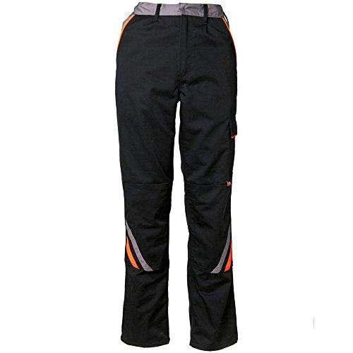 Planam Bundhose Visline, Größe 50, 1 Stück, schwarz / orange / zink, 2421050