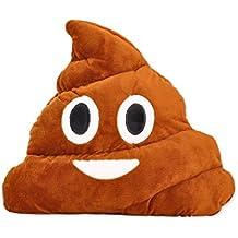 DSstyles Emoj Cojin Emoticono Almohada Coop en forma de almohada de viaje Cara Smiley Cojín Poo Suave de peluche para el cojín Home Sofa - Smiley Poop