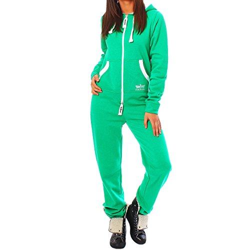 GB5 Finchgirl Damen Jumpsuit Jogging Anzug Trainingsanzug Overall Grün M