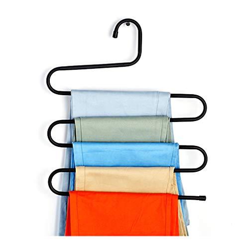 Topker S-Form Kleiderbügel Mehrschichtige Mental Kleidung Zahnstangen-Halter Pants Krawatten Schals Garderobe Organizer