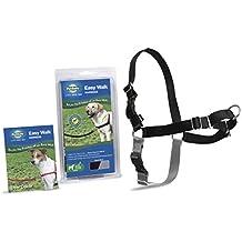 PetSafe/Premier Dog Nylon EASY WALK HARNESS Reduce Pulling Large Black & Silver