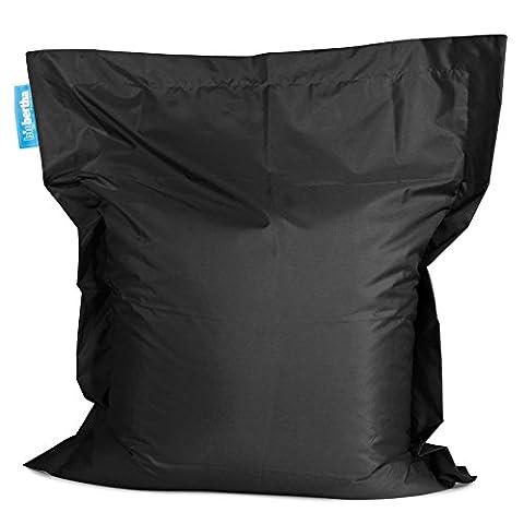 Outdoor Bean Bag - Genuine Original Big Bertha Product - Choice of Colours & Sizes - Splash Proof - Designed & Made in the UK (Black, Big Bertha Bean Bag