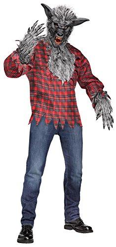 Werwolf grau Kostüm für Erwachsene - Unigröße