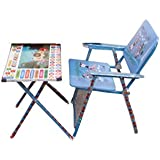 Boy's and Girl's Study & Play Wodden Table Chair (Blue)