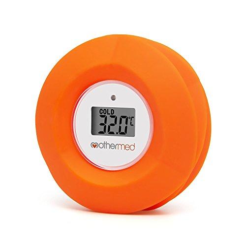 mothermed Baby Badethermometer und schwimmende Bad Spielzeug Badewanne und Pool Thermometer, rote Blume