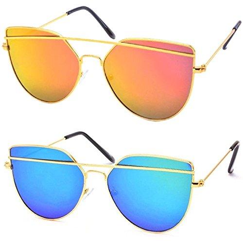 Y&S Wayfarer And Aviator Unisex Sunglasses(Cm-11-16-034|55|Black)