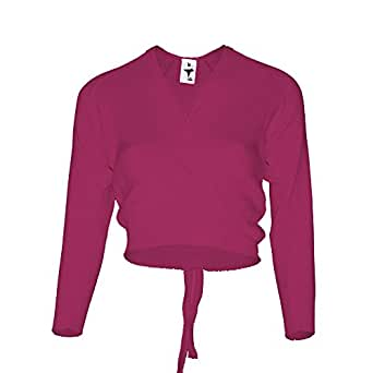 """Starlite Mulberry Crossover Cardigan Long Sleeve 22"""""""