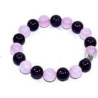 Bracelet Amethyst With Rose Quartz 10 MM +1 Pointer pendant Birthstone Handmade Healing Power Crystal Beads preisvergleich bei billige-tabletten.eu