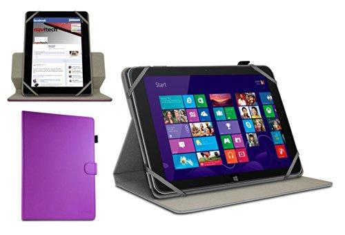 Navitech Odys Wintab 9 Plus 3G 22,6 cm (8,9 Zoll) Tablet-PC lilanes bycast Leder Case / Cover 360 Grad rotierbar