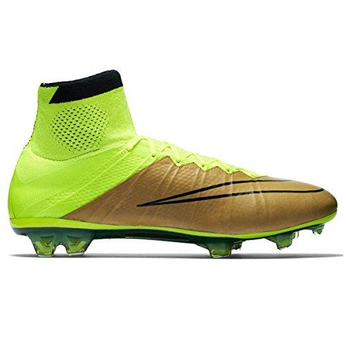 Nike Herren Mercurial Superfly Lthr FG Fußballschuhe, Gold/Gelb/Schwarz (Leinwand/Schwarz-Volt), 43 EU