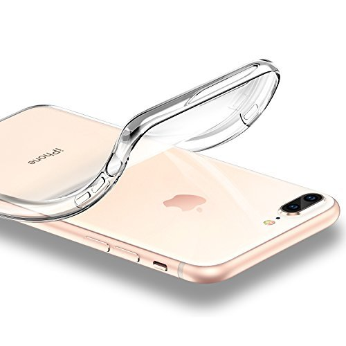 Funda iPhone 8 Plus/ 7 Plus  ESR Funda Transparente Suave TPU Gel [Ultra Fina] [Protección a Bordes y Cámara] [Compatible con Carga Inalámbrica] Enjaca Perfecta para Apple iPhone 7 Plus/Nuevo iPhone 8 Plus 5.5