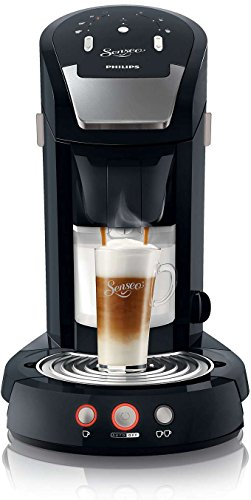 Philips HD7854/60 Senseo Latte Select Kaffeepadmaschine (2650 Watt, 1.2 L, Easy-clean Taste) schwarz