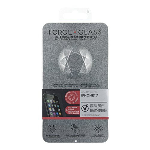 Forceglass Film de protection d'écran en verre trempé pour iPhone6/6S/7/8
