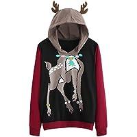 Damen Sweatshirt,Geili Damen Langarm Elch Deer Print Sweatshirt mit Kapuze Pullover Tops Bluse Hoodie Tunika Oberteile... preisvergleich bei billige-tabletten.eu