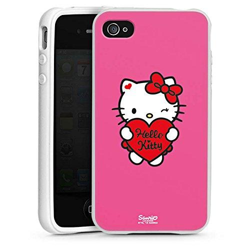 DeinDesign Silikon Hülle kompatibel mit Apple iPhone 4 Case Schutzhülle Hello Kitty Merchandise Fanartikel Amour