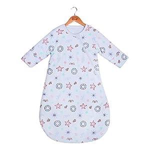 Bunnysun Saco de Dormir del bebé de Manga Larga de Invierno, 100% algodón orgánico Saco de Dormir, bebé algodón Anti…