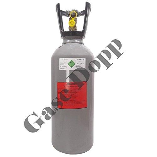 6 kg CO2 Steigrohr Flasche gefüllt mit Lebensmittel Kohlendioxid / Kohlensäure - Fabrikneue Eigentumsflasche von Gase Dopp