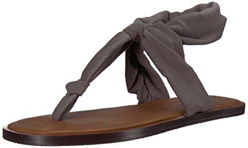 Sanuk Women's Yoga Sling Ella LX Flip-Flop, Charcoal, 07 M US -