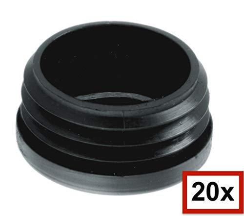 20 St/ück SBS Lamellenstopfen f/ür Rundrohre /Ø 38 mm Stopfen Rohrstopfen Pfostenstopfen aus Kunststoff Formrohr