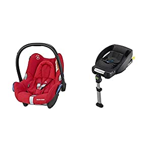 Maxi-Cosi CabrioFix Baby Car Seat Group 0+, ISOFIX, 0-12 Months, 0-13 kg, Nomad Red with Easyfix Car Seat Base, ISOFIX or Belted Installation for CabrioFix, 0-12 m, 0-13 kg   13
