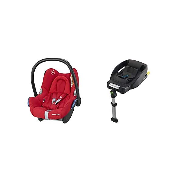 Maxi-Cosi CabrioFix Baby Car Seat Group 0+, ISOFIX, 0-12 Months, 0-13 kg, Nomad Red with Easyfix Car Seat Base, ISOFIX or Belted Installation for CabrioFix, 0-12 m, 0-13 kg Maxi-Cosi Optimal side impact protection: maxi-cost's side protection system technology features in the wings of the car seat to reduce the risk of injury in a side impact collision Click-and-go installation: quick and easy installation with any maxi-cosi base unit Used in combination with the Maxi-Cosi CabrioFix infant car seat 1