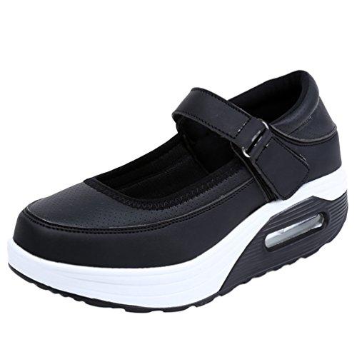 Yiiquanan Femmes Infirmière Chaussure Coussin D'air Shake Chaussures Respirant Épais Bottom Sport Casual Shallow Mouth Sneakers