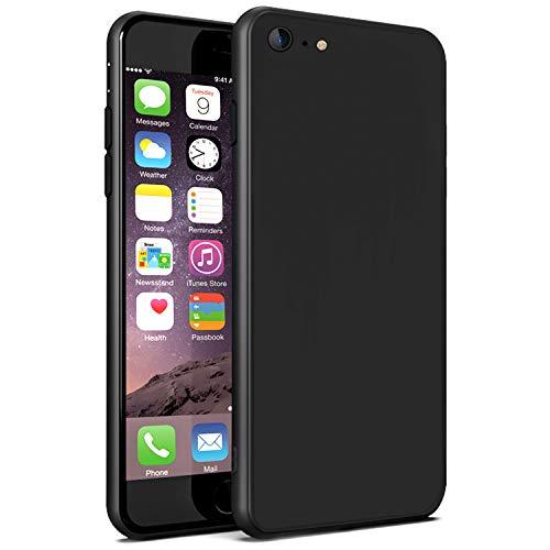 Ylife Schutzhülle Kompatibel iPhone 6s, Hülle Kompatibel iPhone 6, Ultra Dünn Schwarz Matt Weiche Silikon TPU Handyhülle, Anti-Fingerabdruck Anti-Kratz Case Cover