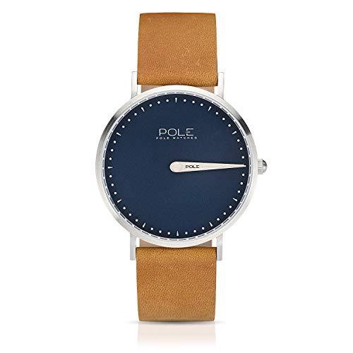 a096bddcfe36 Pole Watches - Azure - Reloj Analógico de Cuarzo para Hombres con Esfera  Azul y Correa