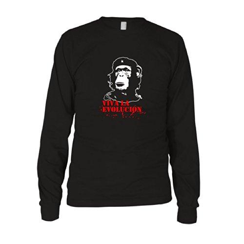 Viva la Evolución - Herren Langarm T-Shirt Schwarz