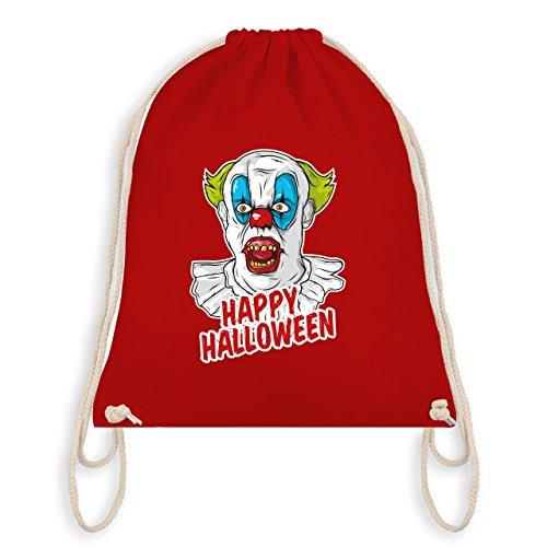 Beste Joker Kostüm (Halloween - Happy Halloween - Clown - Unisize - Rot - WM110 - Angesagter Turnbeutel / Gym)