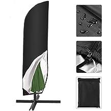 Abdeckhaube Schutzhülle Hülle mit Reißverschluss für Sonnenschirm halbrund