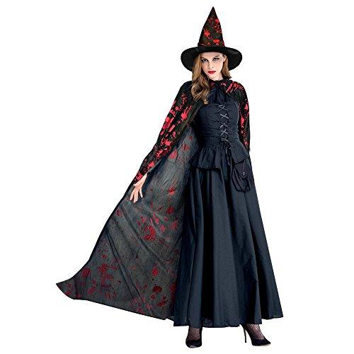 it Hexenhut Halloween Kostüm Cape für Vampirmagier ()