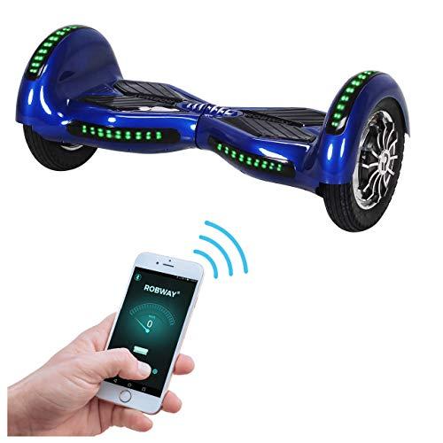 Robway W3 Hoverboard - Das Original - Samsung Marken Akku - Self Balance - 21 Farben - Bluetooth - 2 x 400 Watt Motoren - App - LED (Blau)
