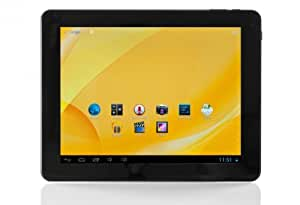 Xoro PAD 9719QR 24,6 cm (9,7 Zoll) Retina Display Tablet-PC (ARM Cortex A9 Quad Core, 1,6GHz, 2GB RAM, 16GB HDD, WLAN, HDMI, BT, Android 4.2) inkl. Kunstleder-Schutztasche schwarz/silber