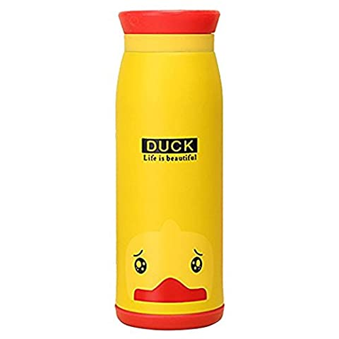 SODIAL(R)Thermos bottle vacuum bottle, Travel Mug water bottle with Creative Cartoon, 500 ml stainless steel