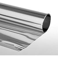 Folien-Gigant Extrem - Adhesivo para ventanas (protector solar, efecto espejo, 3 variantes), color plateado