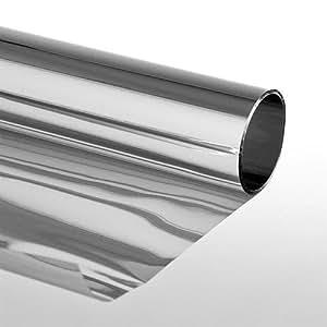 Extrem pellicola solare adesiva finestra effetto specchio 75x300 cm argento casa e - Pellicola riflettente per finestre ...