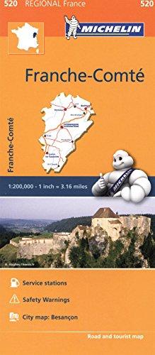 Franche-Comté Michelin Regional Map (Michelin Regional Maps) 520 (Michelin Regional Maps France) (Michelin Regional France) par Michelin