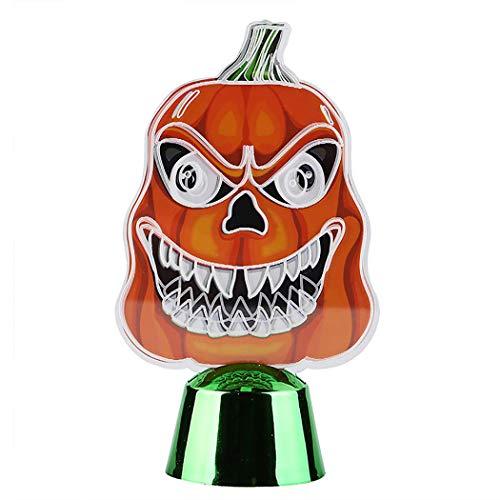 Fansport Halloween Desktop Ornament Neuheit Kürbis LED Nacht Lampe Tisch Ornament