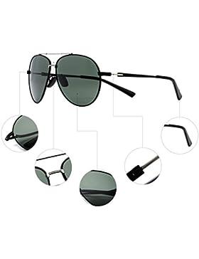 CHB Polarizadas Gafas de Sol Protección UV 400Ligeras Con Estuche de Gafas Para Hacer Ejercicio Aviador Polarizadas...